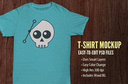 Enlace | Plantillas de camisetas en PSD