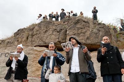 Фото Укринформ: в Умани тесно от хасидов