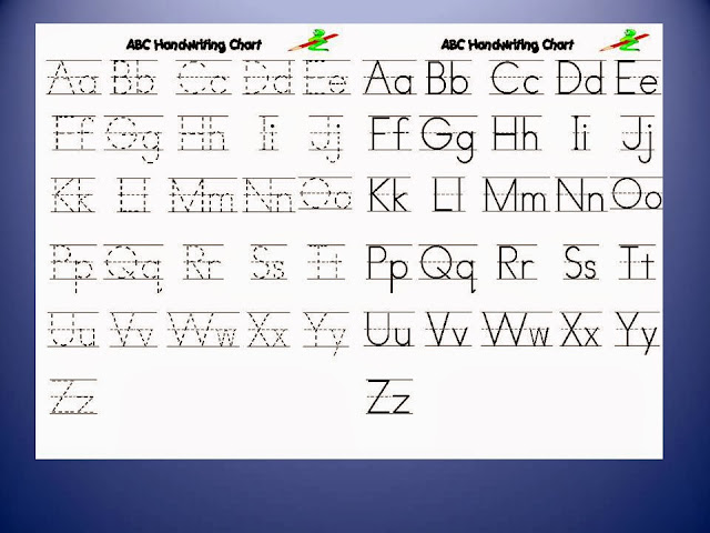 Images gallery of abc handwriting practice