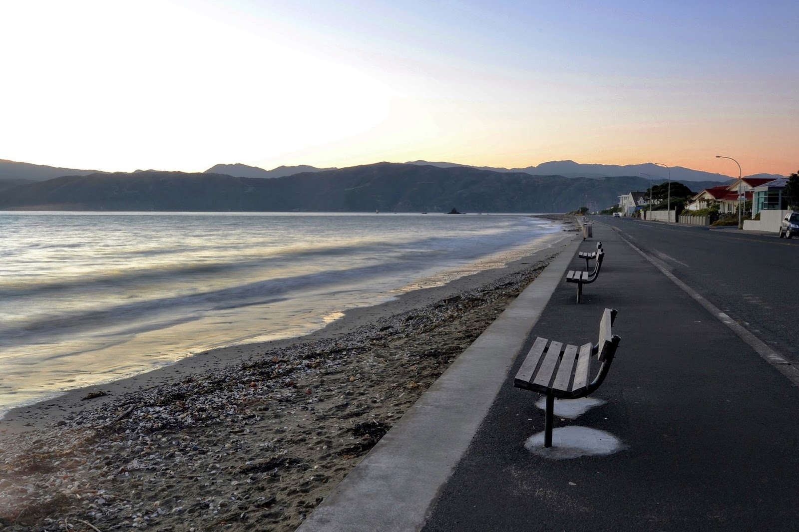 Seatoun Beach before sunrise
