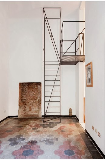 stairs in House C by Francesco Librizzi, Matilde Cassani