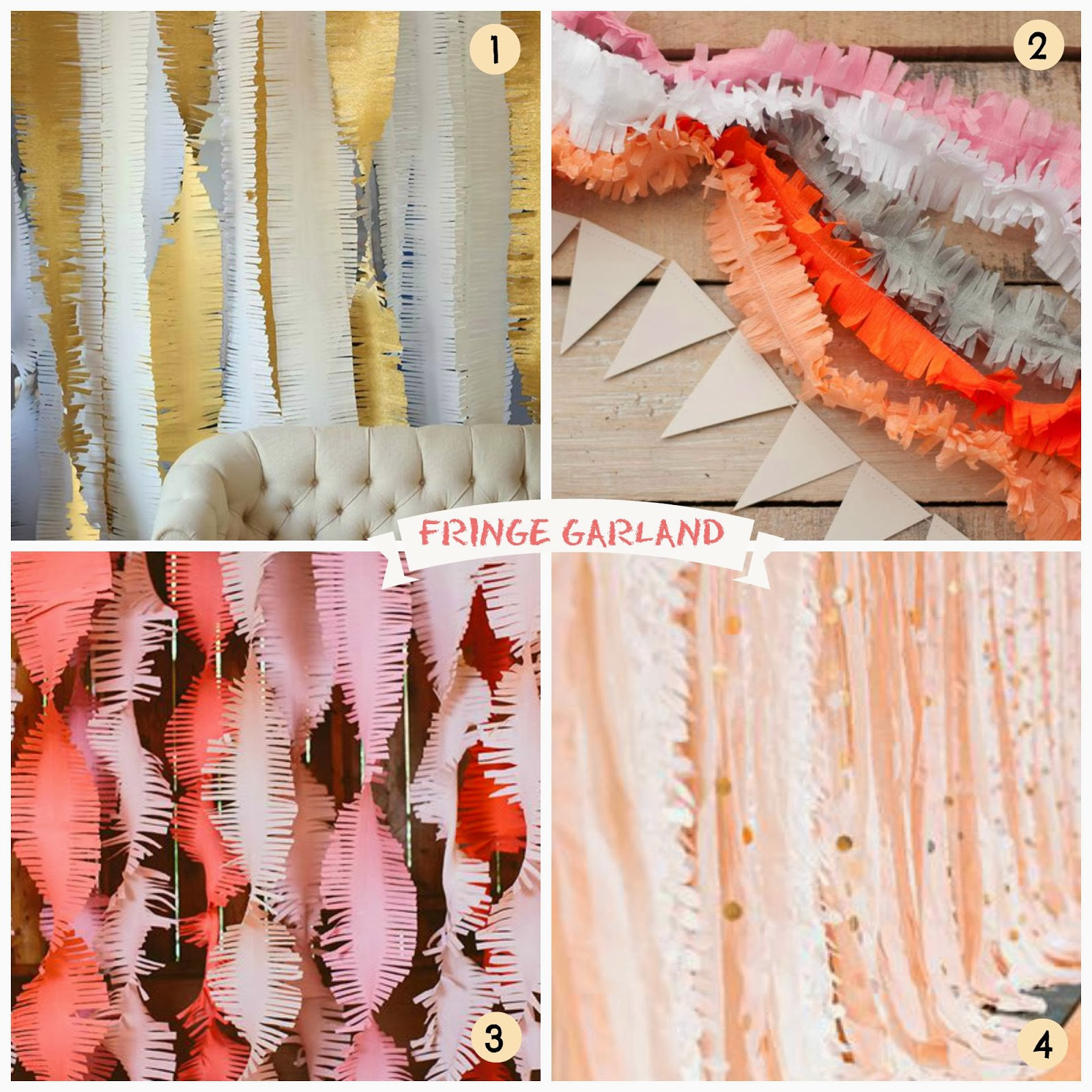 Decorazioni con la carta crespa fringe garland - Carta crespa decorazioni ...