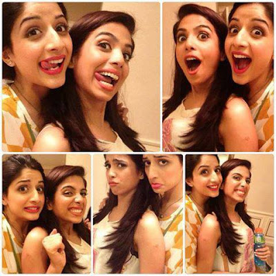 Soniya Hussain And Mawra Hocane behind the scenes of Sunsilk tvc