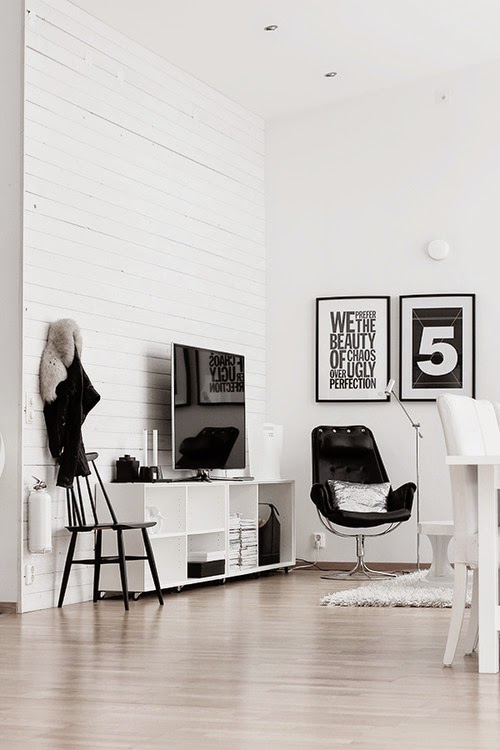white fashion decor