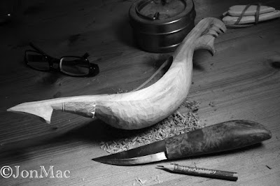 Ale hen+kuksa+spoon carving+jonmac+MiniMac sold knife+sloyd