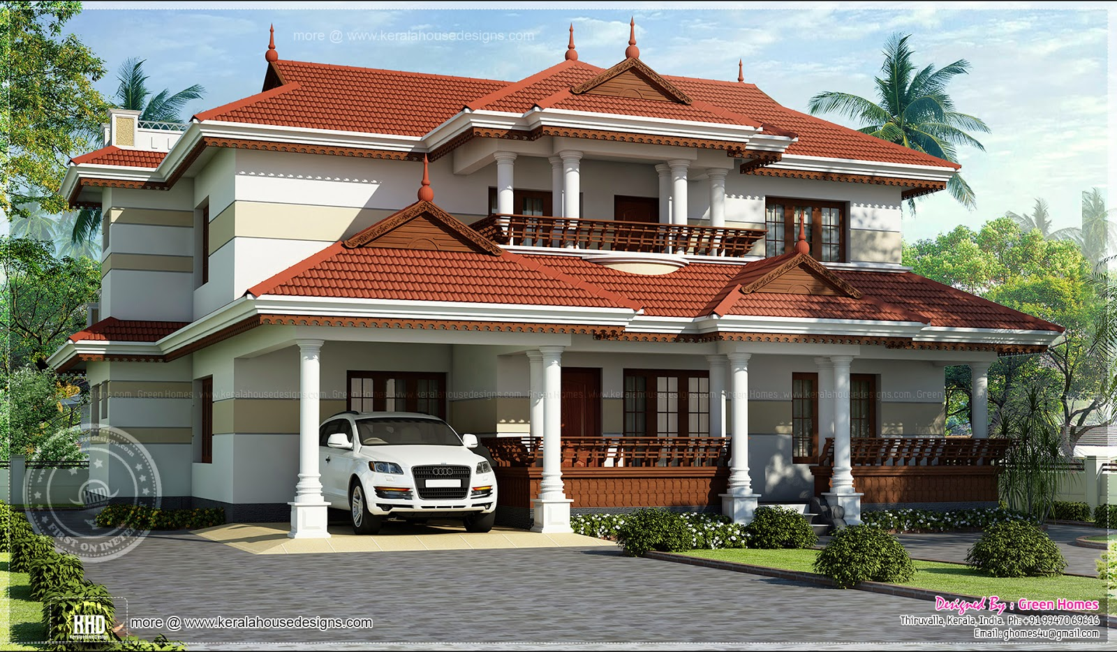 Beautiful kerala home design home kerala plans for Beautiful kerala home design