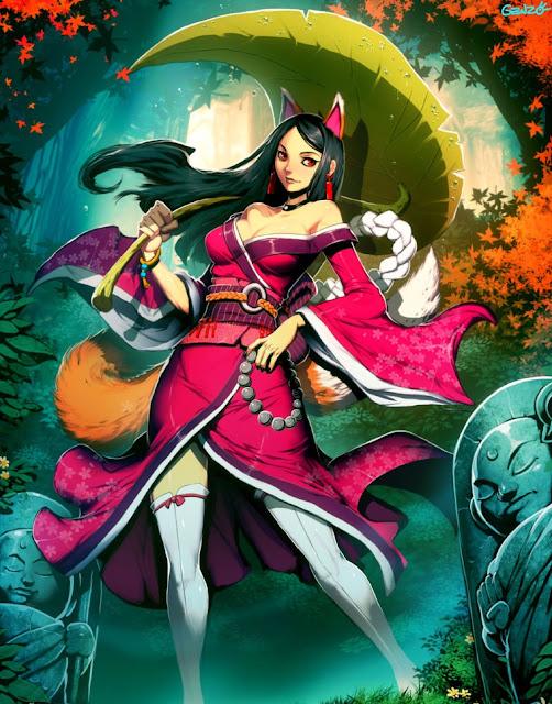 kitsune,genzoman,anime girl