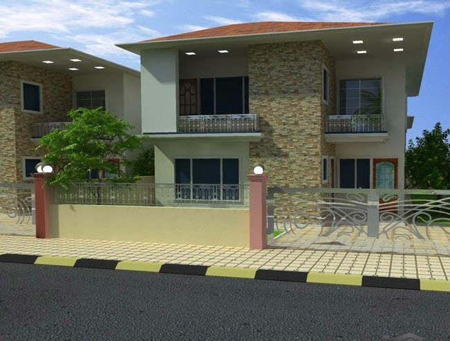 Two Story Modern House Details in Iraq Kirkuk Noorcity 12m X 20m
