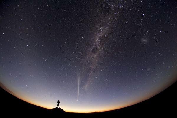 A Comet Blazes Past: