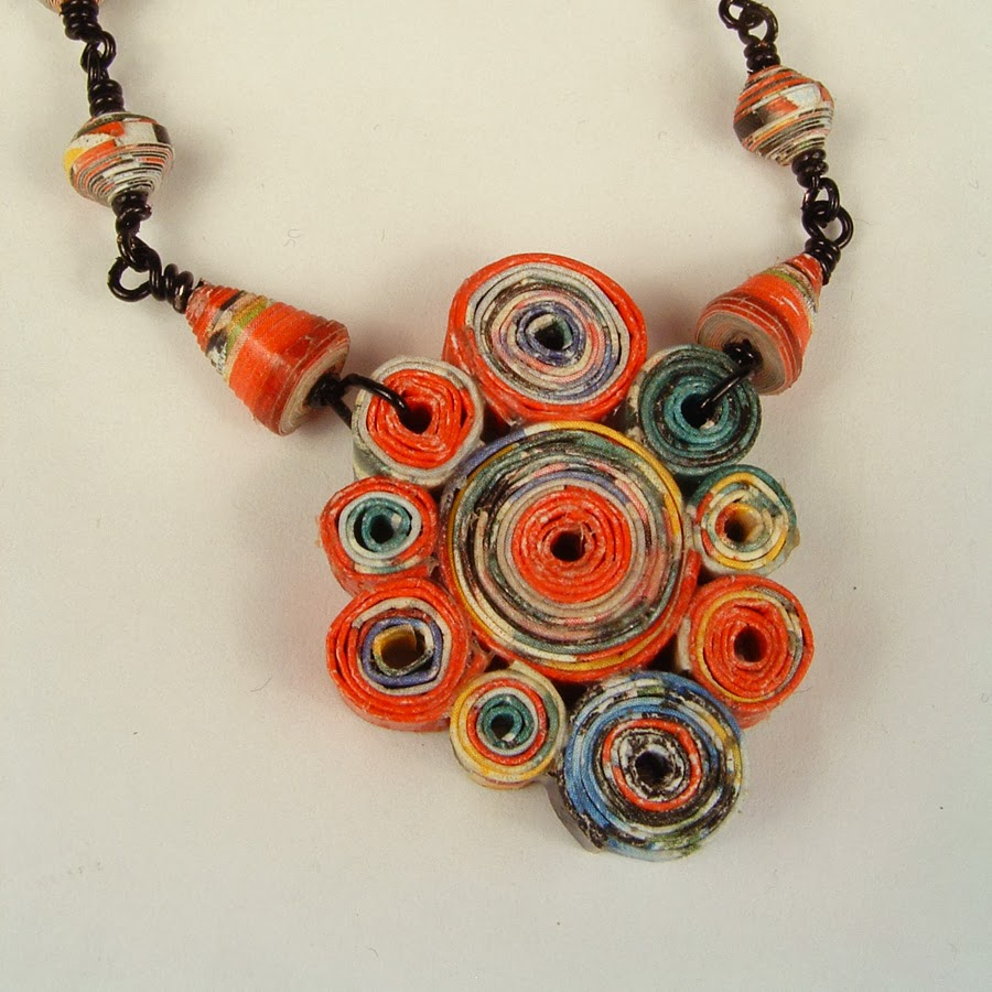 Jewellery Made From Paper And Other Waste Materials Great Upcycled Craft Ideas