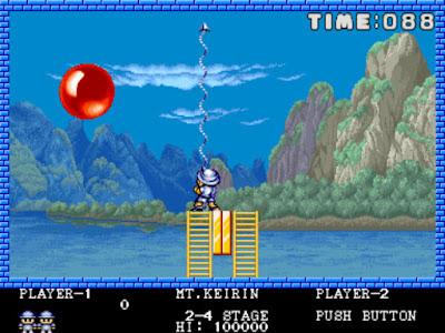 街機:魔法氣泡(Pang)+作弊碼金手指,Coinop經典好玩打氣球遊戲!
