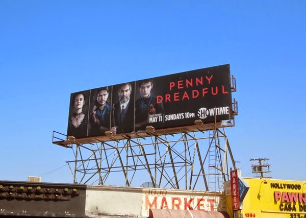 Penny Dreadful season 1 Frankenstein billboard