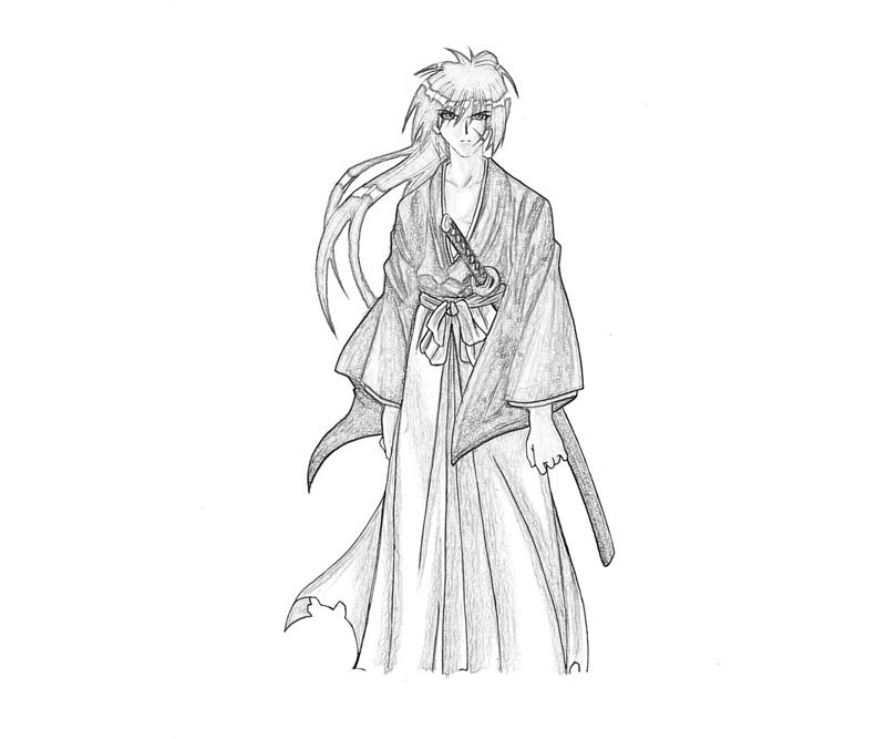 coloring pages for rurouni kenshin - photo#24