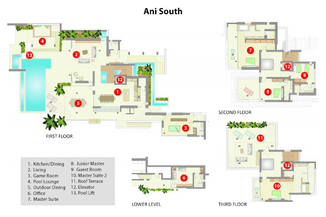 South villa floor plans