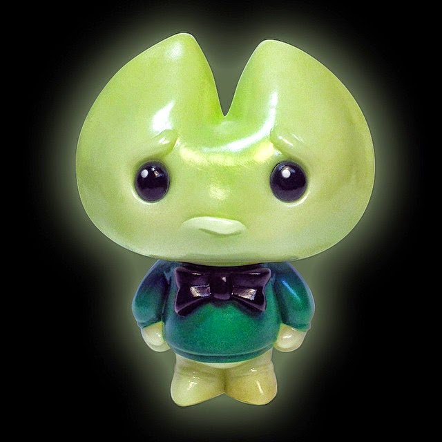 Designer Con 2014 Exclusive Kookie Glo Good Glow in the Dark Vinyl Figure by Scott Tolleson
