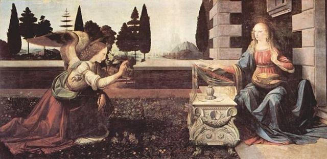 La Anunciación - Leonardo da Vinci