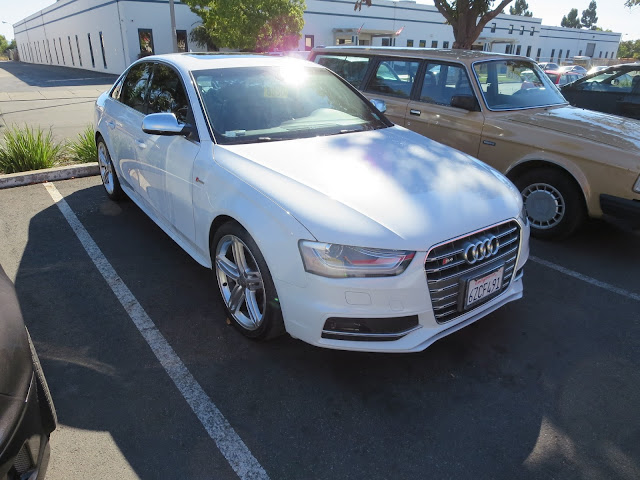 Audi S4 after collision repairs at Almost Everything Auto Body