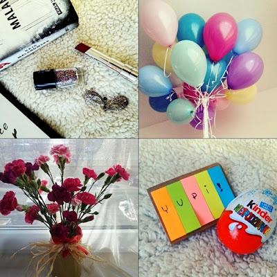 listopada, nic na poważnie, podsumowanie, instagram, marzana.c, szminka, balony, kwiaty, wazon, kinder niespodzianka