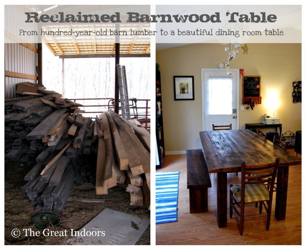 barn wood table plans