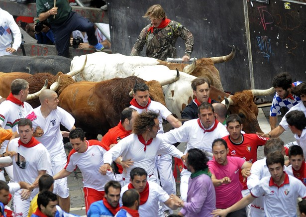 Encierro en Pamplona Spain