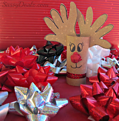 rudolph craft for kids using toilet paper rolls