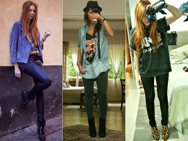 Camisetas de banda tá na moda