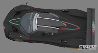 Pagani Zonda R GTR3 renders 3
