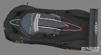 Pagani Zonda R GTR3 renders 3