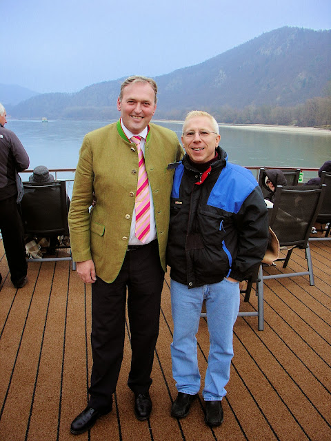 Me and Wilhelm, our hotel manager onboard the Viking Skadi.
