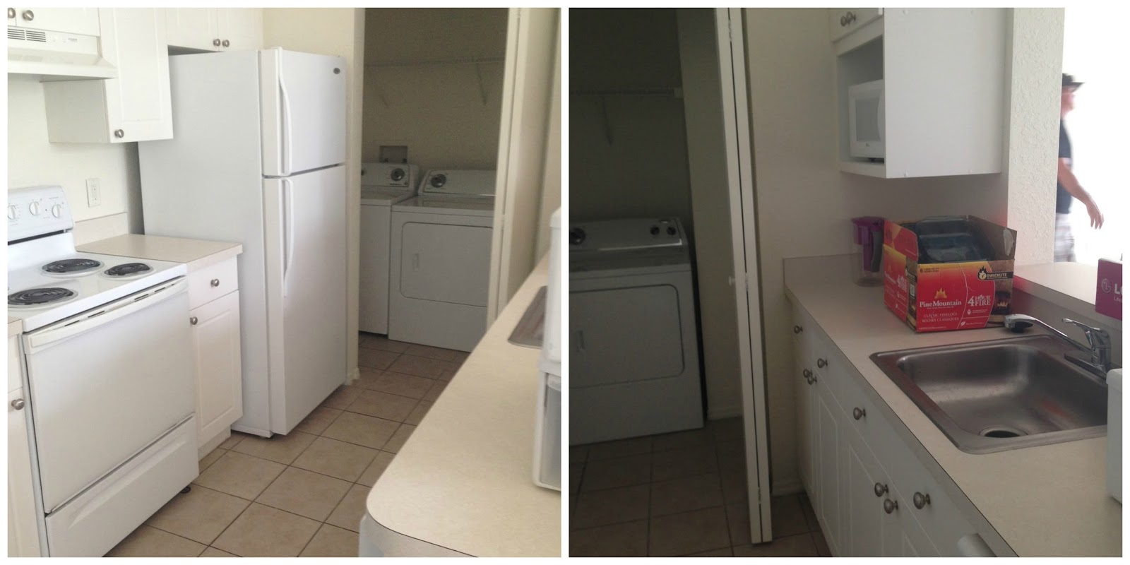 As You Make Your Way Through The Kitchen You Find My Laundry Room. The  Place Came With The Washer And Dryer!
