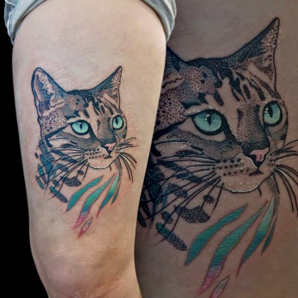 Tatuaje de gato ideas para tu proximo tattoo tatuajes for Tatoo gatos