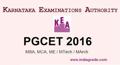 PGCET 2016 Application Form