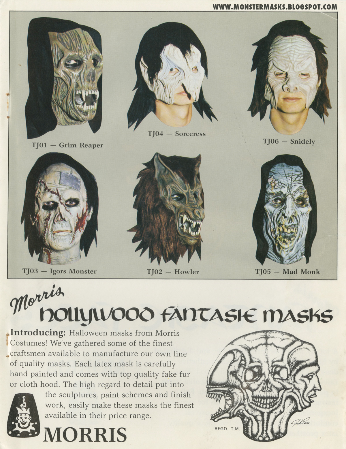 Blood Curdling Blog of Monster Masks: November 2012