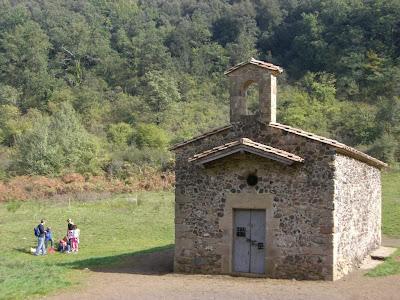 Chapel in the crater of Santa Margarida Vulcano