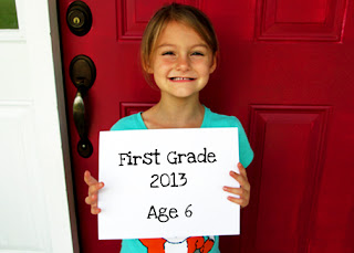 Tessa's first day of First Grade!