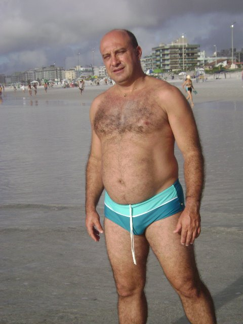 from Barrett gay dads wearing speedos