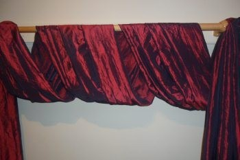 Curtains Design The Second Great Way To Hang Your Scarf Swag Curtains