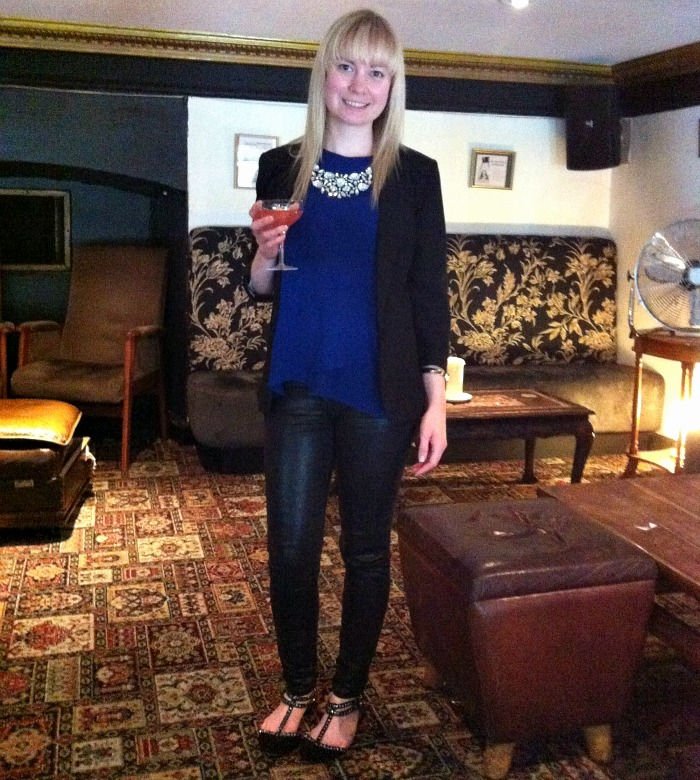 New Look Top Primark Blazer Necklace River Island Leather Jeans Shoes