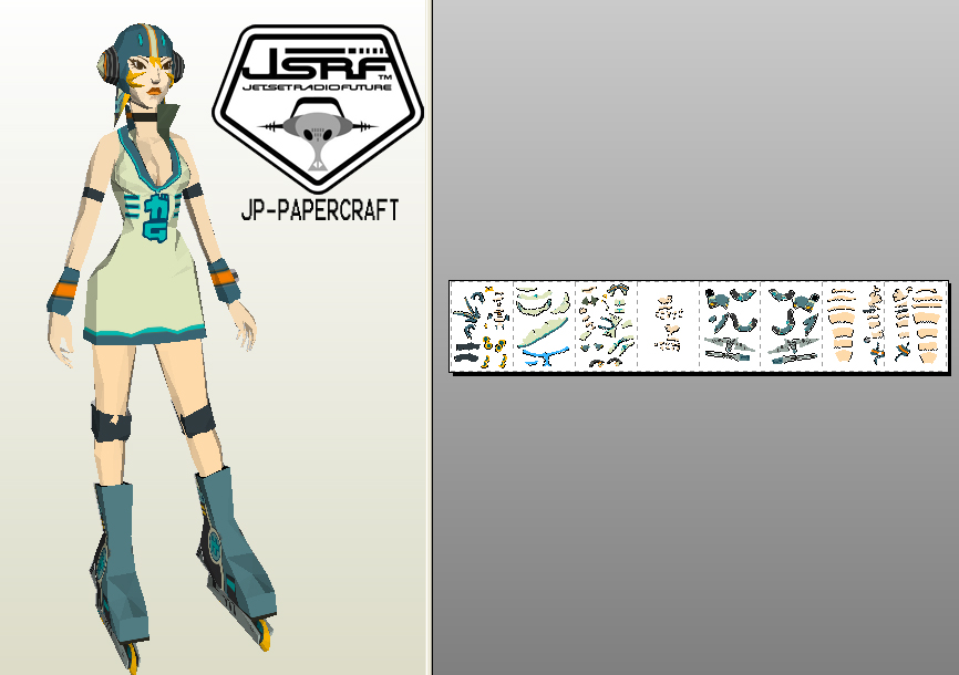 Jet Set Radio Future Papercraft Gum