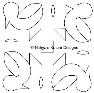 3 Kolam 88: Duck Kolam 8 by 8 dots