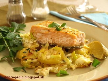 Zapekaný losos so zemiakmi - recepty