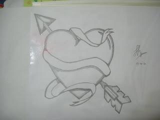 Dibujos de Corazones a Lapiz