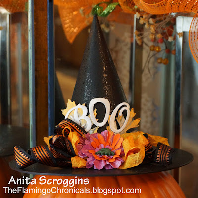 halloween witch hat decoration