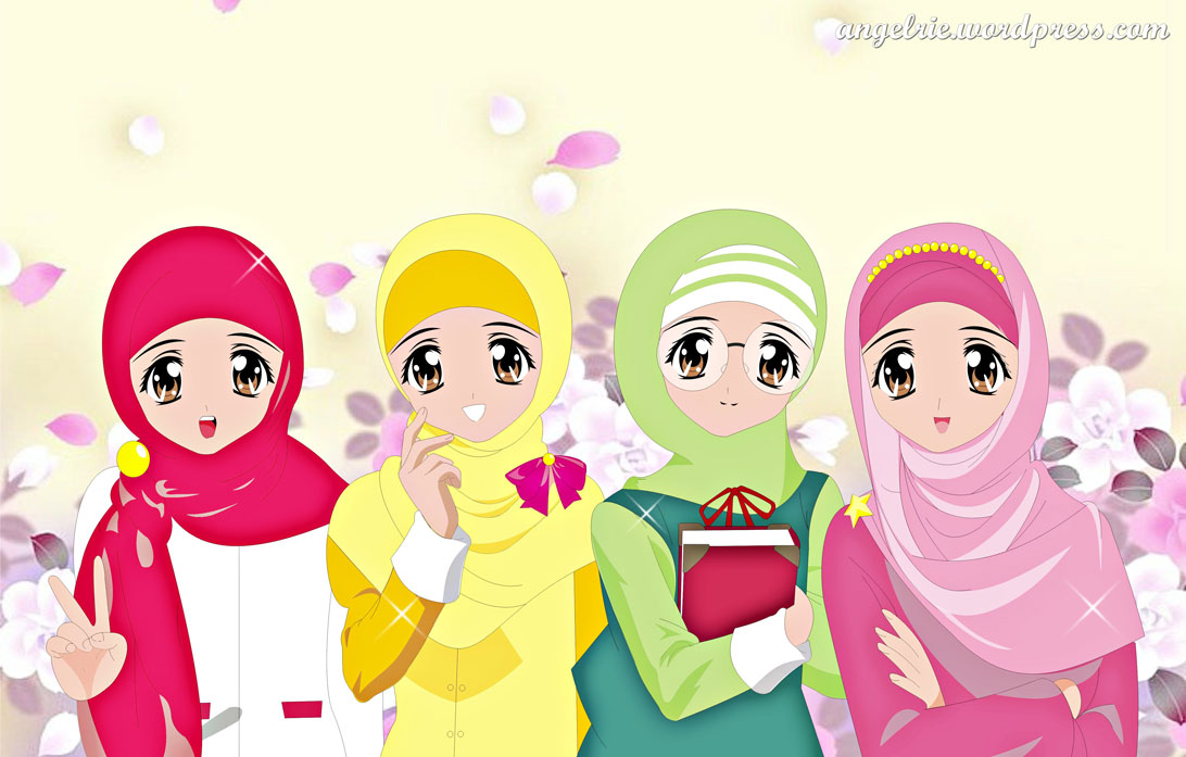 Cute Muslimah Cartoon New Photo Collections