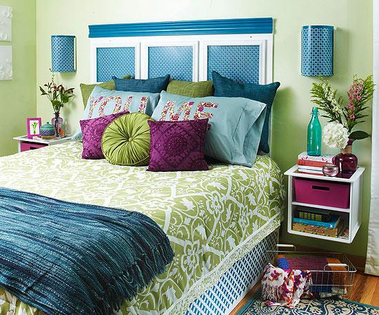 avant apr s une chambre fraiche et color e. Black Bedroom Furniture Sets. Home Design Ideas