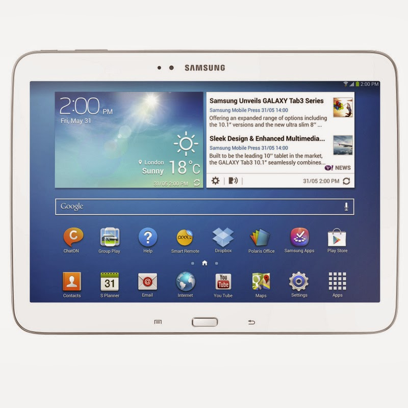 Spesifikasi Dan Harga Samsung Galaxy Tab 3 10.1 White Terbaru