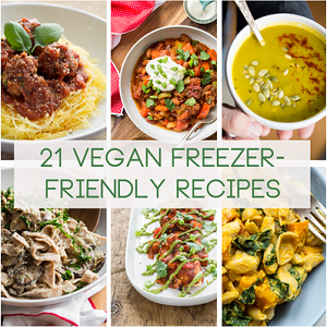 21 Freezer Friendly Vegan Meals/Snacks