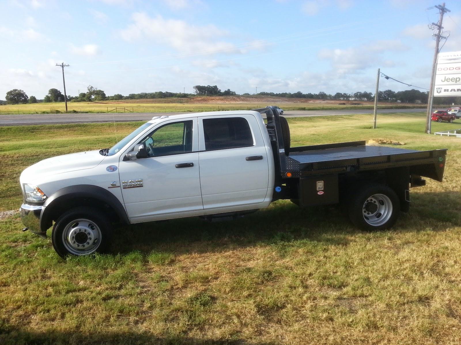 New 2014 ram 5500 flatbed 4x4 crew cab cummins diesel truck with aisin transmission