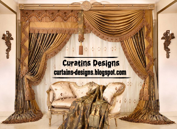 Creative Drapes Curtain Design For Luxury Living Room, Luxury Curtain Drapes