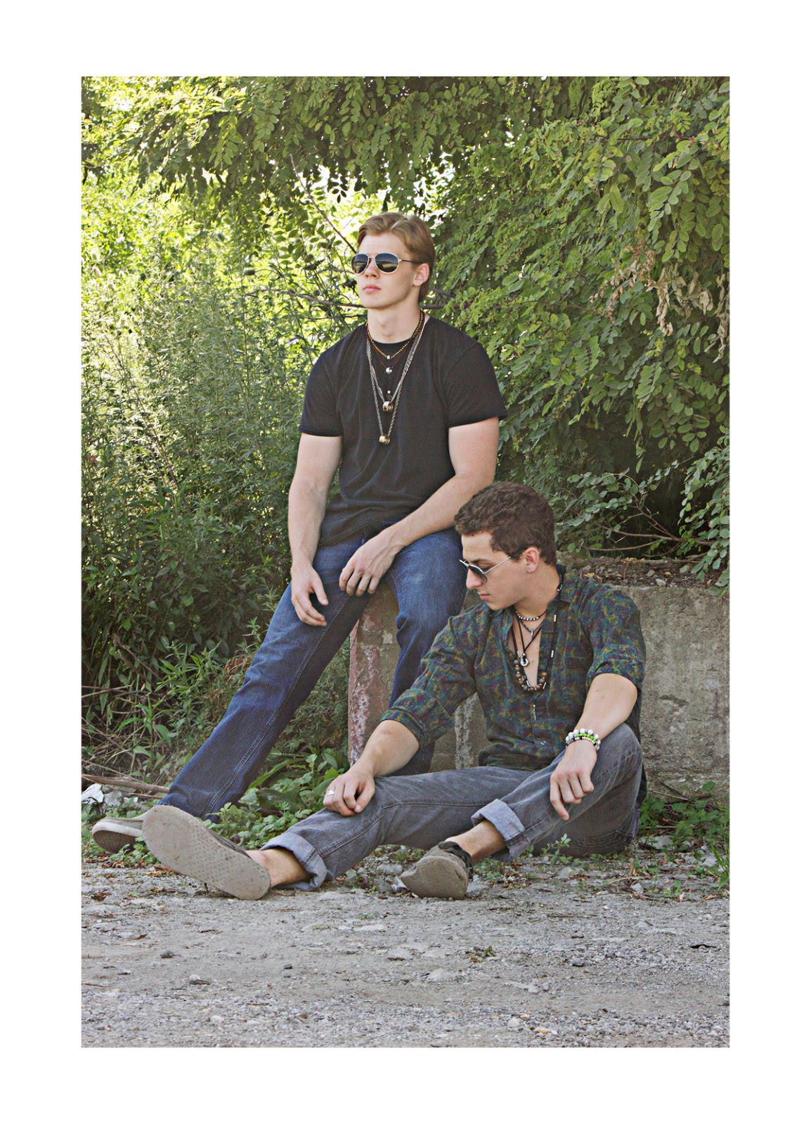 Model credit: Ryan Folliard and Bobby Cooling. Men's grunge style, Photo by Allison Beth Cooling
